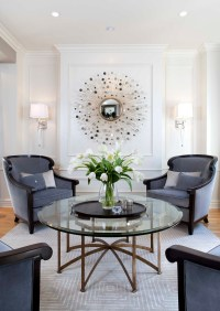 Glamorous Modern Living Room Before and After Robeson ...