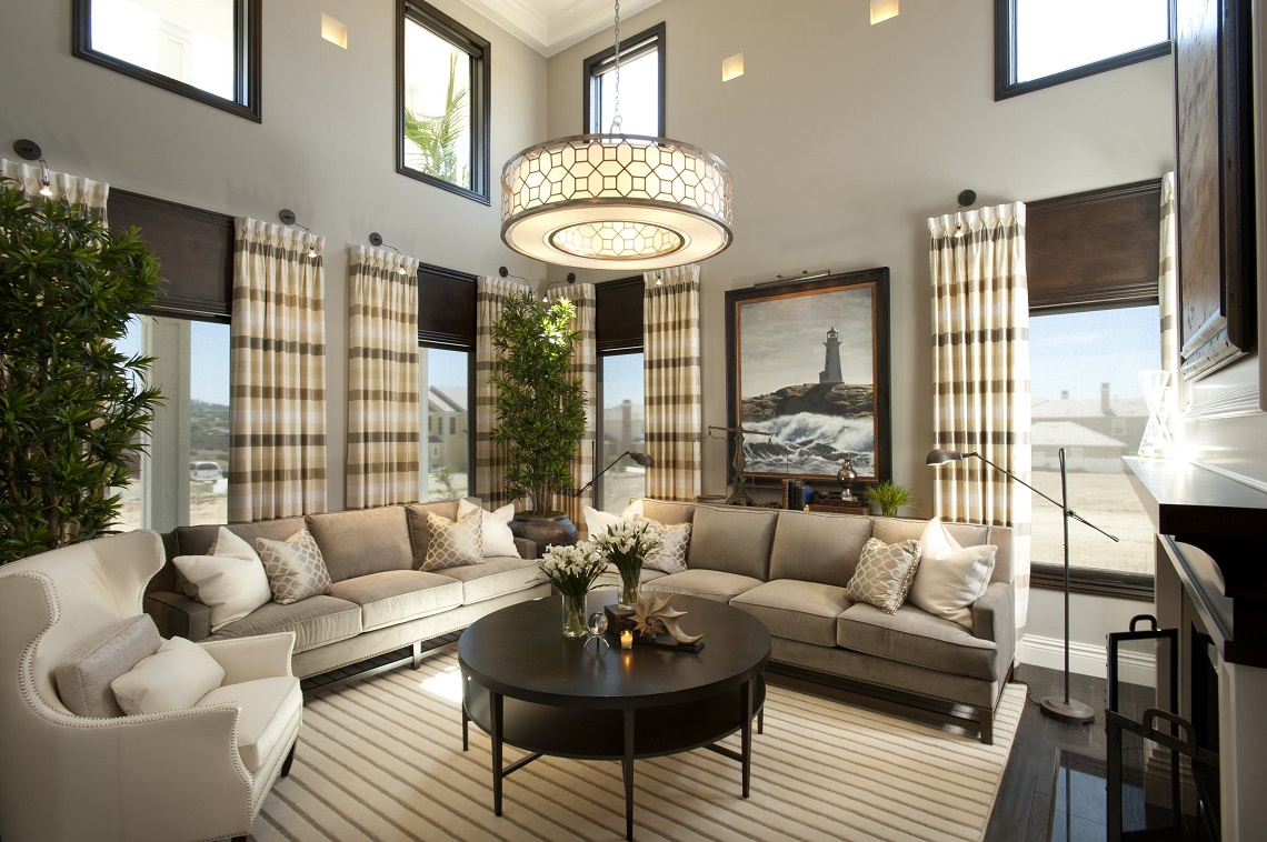 Hamptons Inspired Luxury Living Room Before and After  San Diego Interior Designers