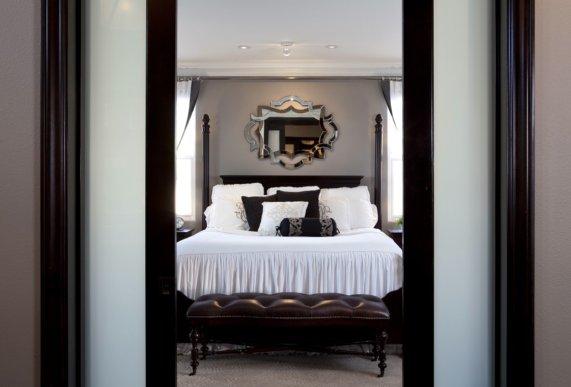 Stylish Transitional Master Bedroom Robeson Design San