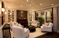 Stylish Transitional Living Room Robeson Design | San ...
