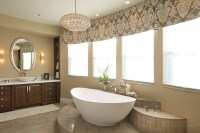 Vibrant Transitional Master Bathroom Robeson Design