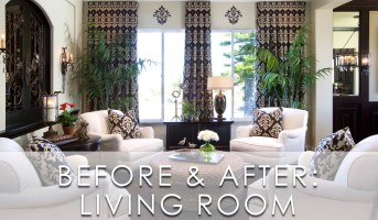 Modern Traditional Living Room Before and After   San ...