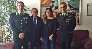 """Matera, il sindaco Raffaello De Ruggieri incontra il nuovo Comandante del Comando Regione Carabinieri Forestali """"Basilicata"""" Angelo Vita"""
