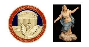 Francavilla in Sinni, i Carabinieri restituiscono alla comunità una scultura rubata del '700