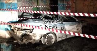 Avigliano, auto in fiamme nella notte, sul posto Carabinieri e Vigili del Fuoco