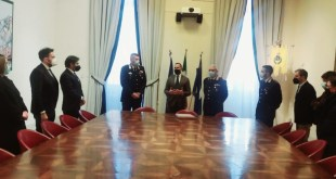 Potenza, consegnato un riconoscimento ai Carabinieri del Comando Provinciale