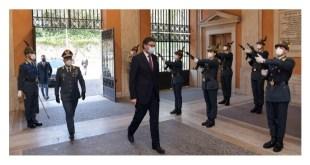 Roma, il Ministro Giancarlo Giorgetti in vista al Comando Generale della GdF