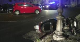 Potenza, scontro tra auto e scooter, un ferito – Video
