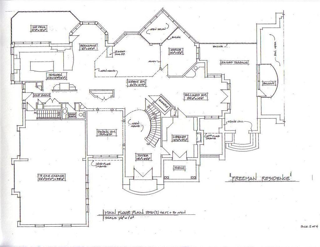 Bed Breakfast Floor Plans