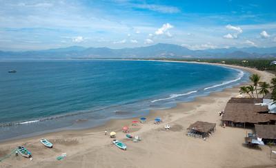 Aerial photograph of Mexico's Pacific Coast at Barra de Potosi.