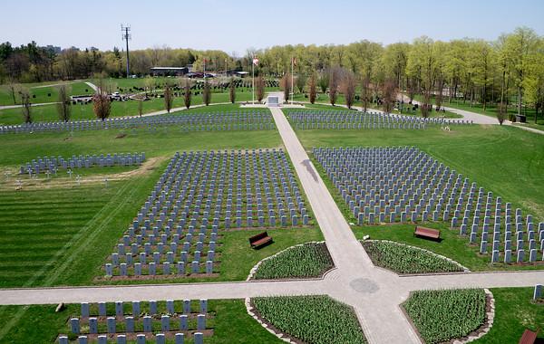 Aerial Photograph. Beechwood Cemetery, Ottawa.