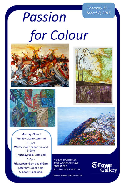 Passion for Colour - Art Exhibit at the Foyer Gallery