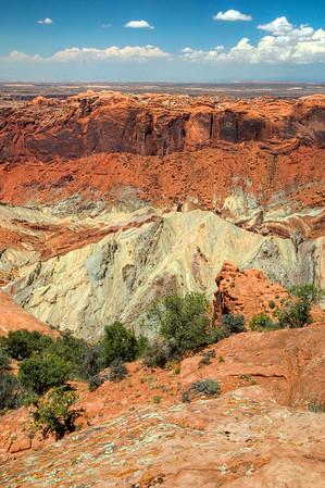 View of Canyonlands National Park in Utah.