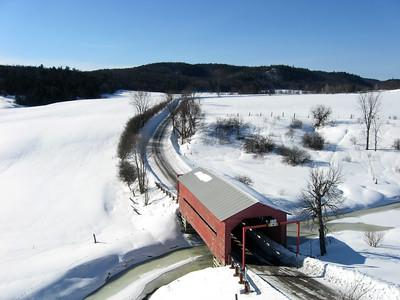 Covered Bridge on Chemin Cross Loop near Wakefield, Quebec.