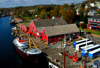Again, a low level aerial photograph proves ideal for making a miniature of the Atlantic Fisheries Museum in Lunenburg, Nova Scotia.