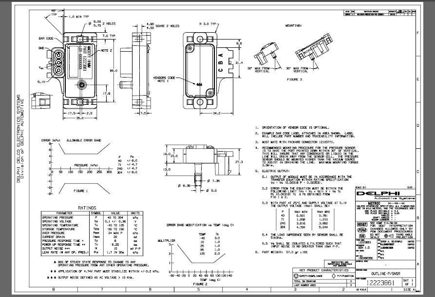 Ac Delco Wiring Diagrams Gm Map Sensor Identification Information 1 Bar 2 Bar 3 Bar