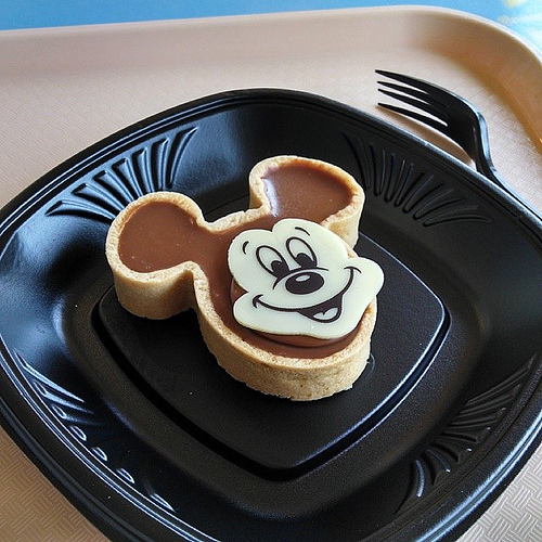 Mickey Mouse chocolate tart