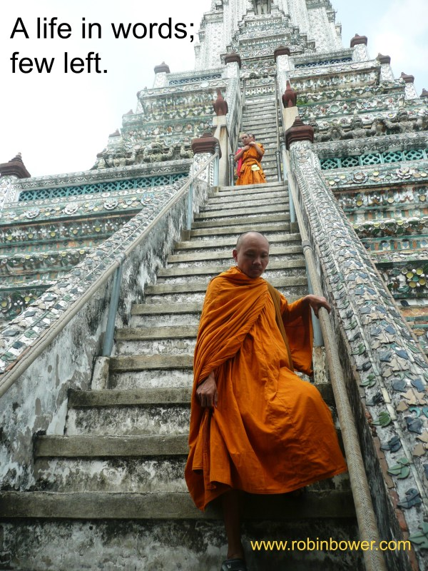 A life in words - Thai monks: Robin Bower author