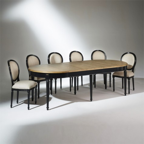 the florence dining table black