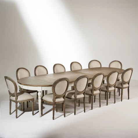 the aude dining table ivory