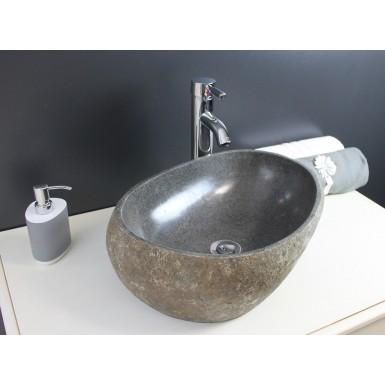 Vasque A Poser Riva En Pierre Naturelle Et Style Moderne Robinet Co