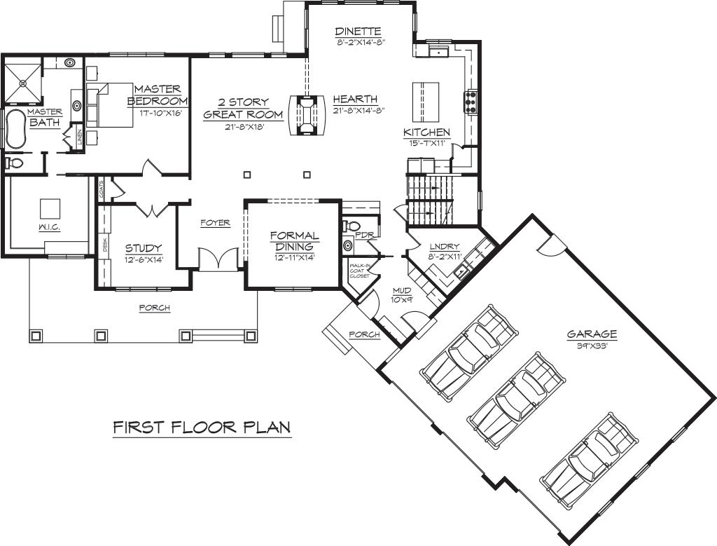 Robin Ford Building & Remodeling Sample Floor Plans in