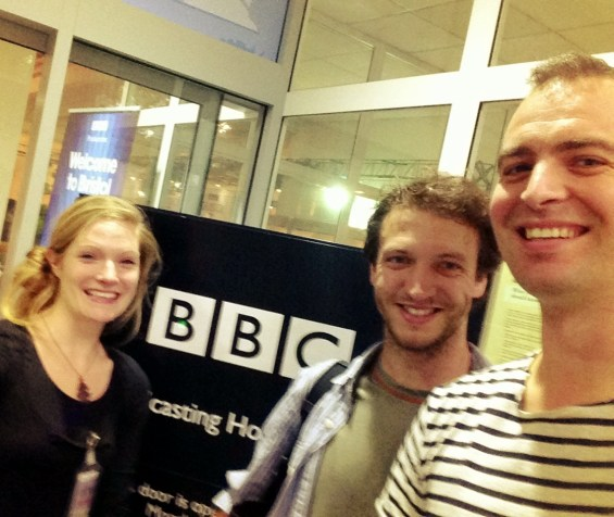 Visiting BBC Bristol for an interview