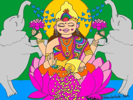 lakshmi, goddess of abundance