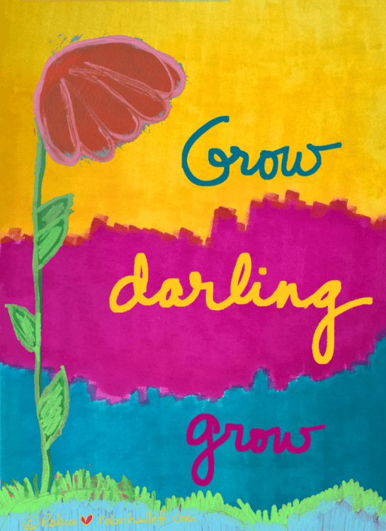 grow darling grow by robin hallett