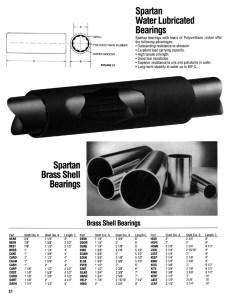 Bearings, Water Lubricated