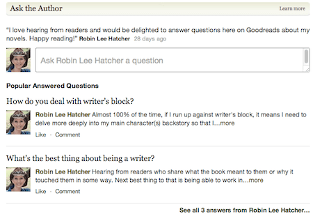 Goodreads' Ask the Author