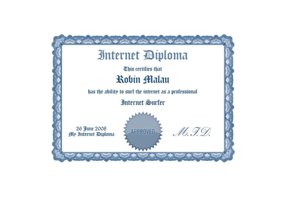 obtain your internet diploma robin malau