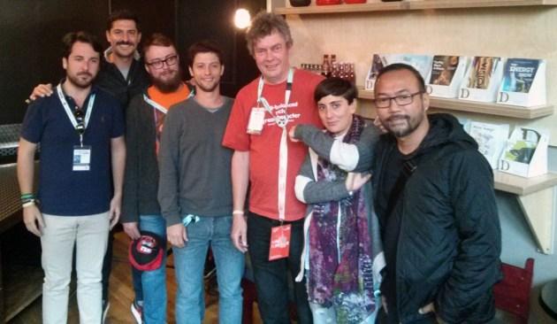 Delegasi YCE 2014 bersama co-founder The Great Escape, Martin Elbourne