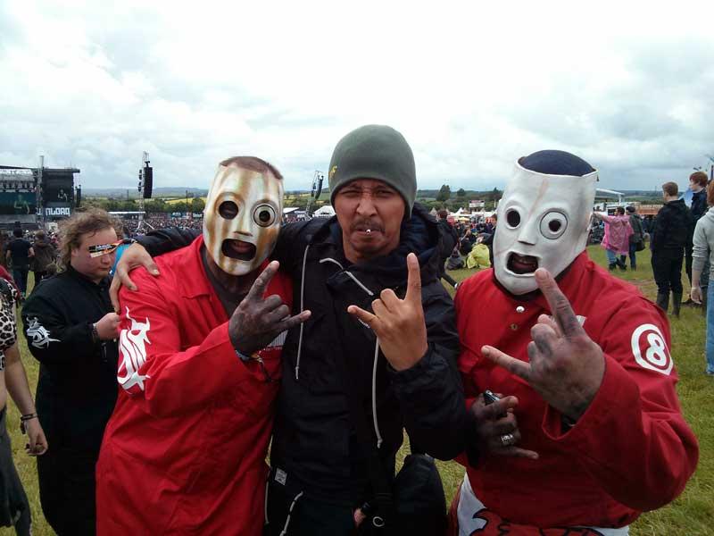Vicky dan Fans Slipknot di Hari Pertama Download Festival 2013