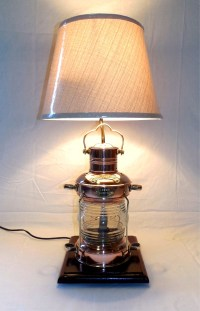 Robin's Dockside Shop - Copper Anchor Lamp Table Lamp