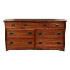 Antique Oak Dining Chairs Spinning Top Chair South Africa 7 Drawer Dresser - Wood Craftsman Dressers | Robinson Clark