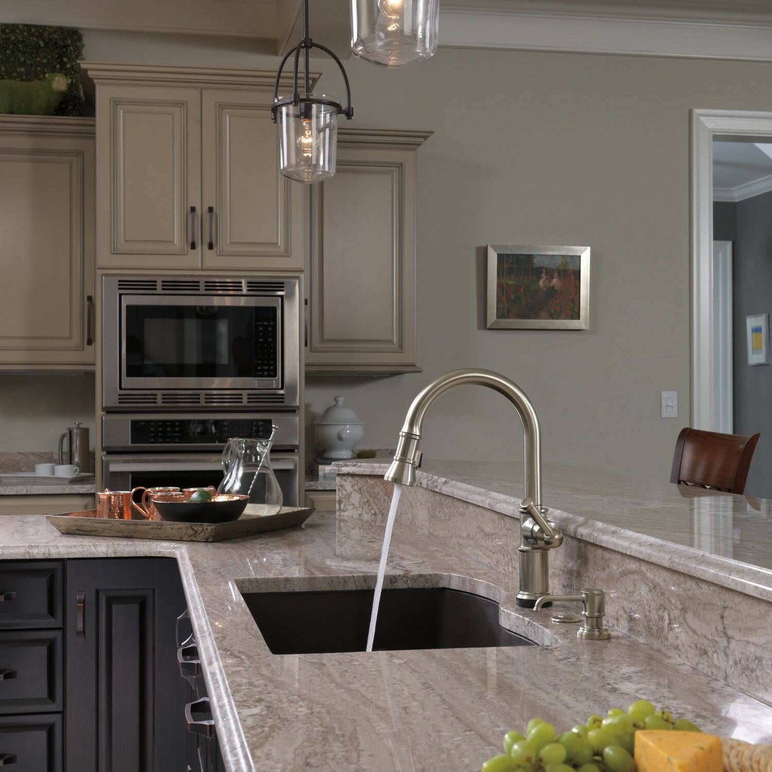 artesso single handle pull down kitchen faucet with smarttouch technology