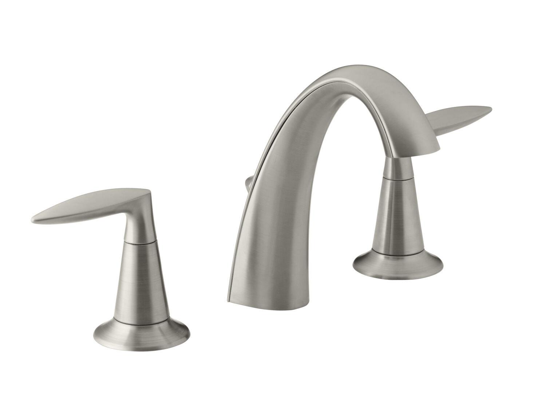 alteo r widespread bathroom sink faucet with lever handles
