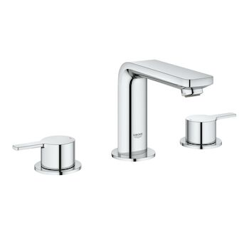lineare 8 inch widespread 2 handle m size bathroom faucet