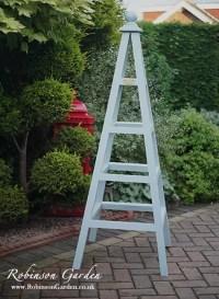 Bespoke wooden garden obelisks Robinson Garden