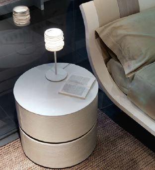 ottoman tables living room rug designs mazzali zefiro round bedside cabinet | italian designer ...