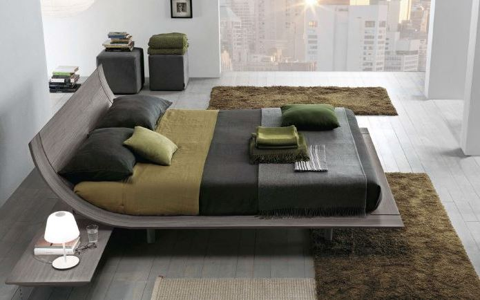Presotto Aqua bed  Modern low beds in walnut  Robinsons Beds