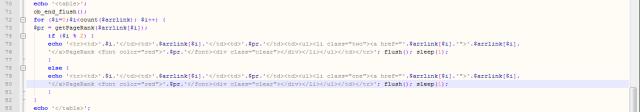 Codul modificat al scriptului de verificare a PR-ului tuturor paginilor
