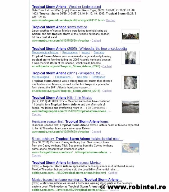 Bonus: rezultatele căutărilor conțin text și imagine, ca postările de pe Facebook