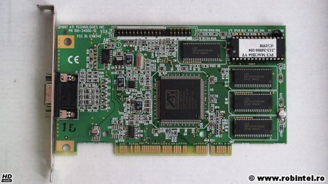Placa video ATI Video Xpression (2 MB, PCI) văzută din față
