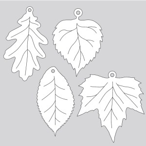 Laser-Cut Leaves