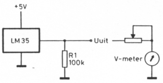 electronic thermometer by lm35 and lm3914