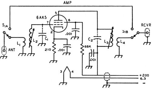 Simple single-band preamplifiers