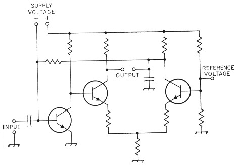 High-gain voltage-controlled transistor amplifier