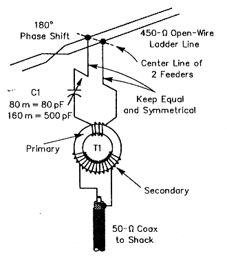 A K6STI low-noise receiving antenna for 80 and 160 meters